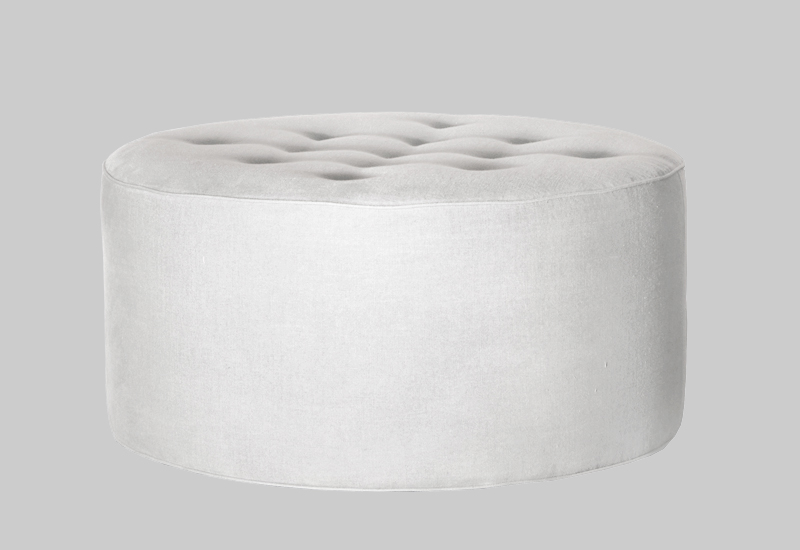 GRACE linen pouf in the group Collections / Eclectic Collection / Furniture at Layered (FLGRACOW80)