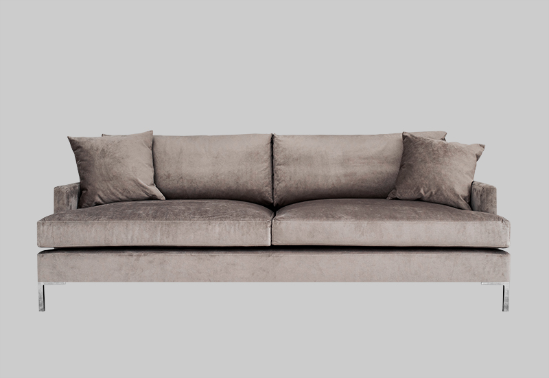 Devon Velvet Sofa Shop Furniture Layered