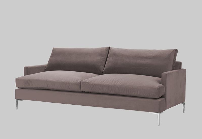 Awe Inspiring Devon Velvet Sofa Evergreenethics Interior Chair Design Evergreenethicsorg