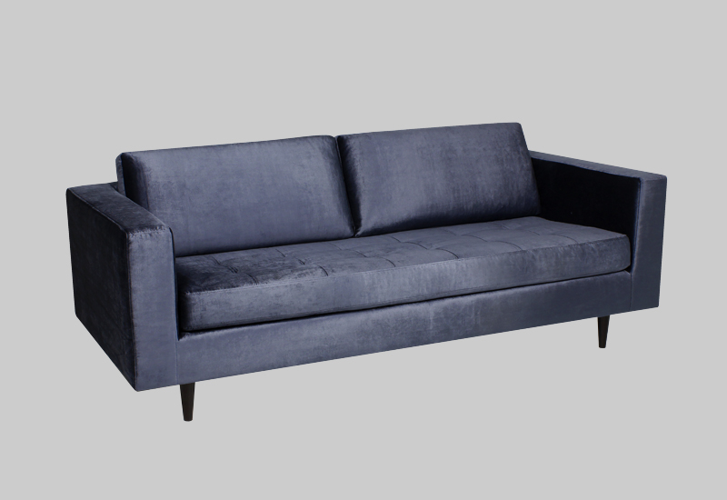 Eclectic Shiny Velvet Sofa In The Group Furniture Sofas At Layered Fvecldb