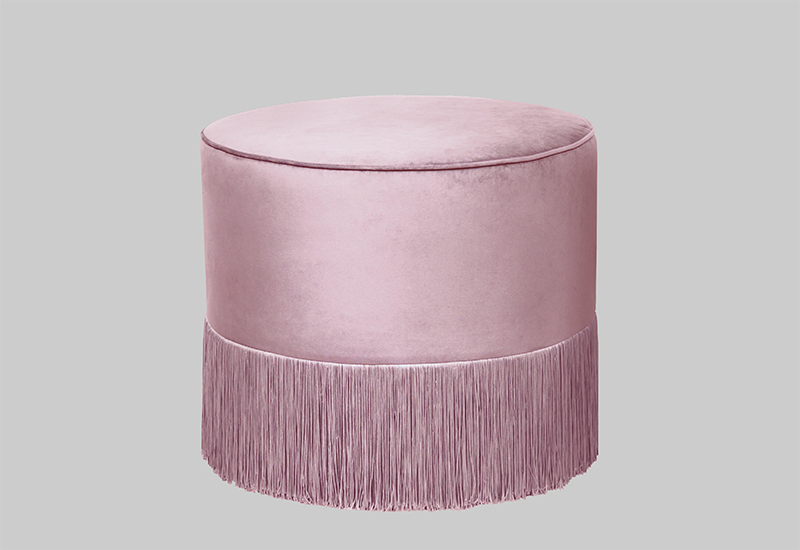 French Pouf Powder Pink in the group Collections / Eclectic Collection / Furniture at Layered (FVFREPP50)