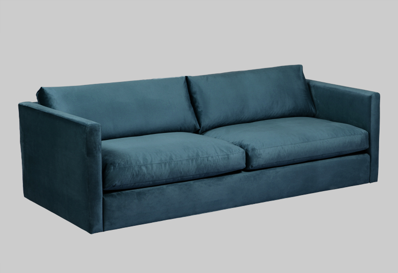 Palmdale Velvet Sofa Layered