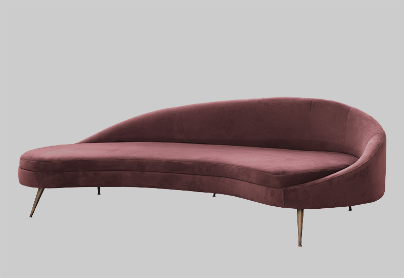 PORTO velvet sofa in the group Shop Furniture / Sofas at Layered (FVPORBR)