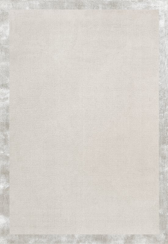 Wool Border Bone White Rug