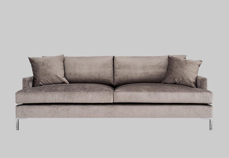 DEVON velvet sofa