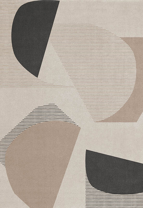 patterned rug layered Birch