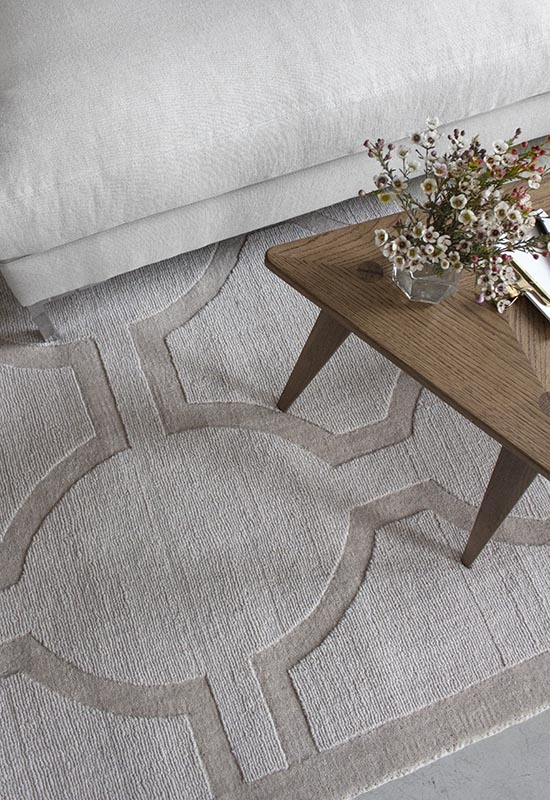 Layered Light Rugs