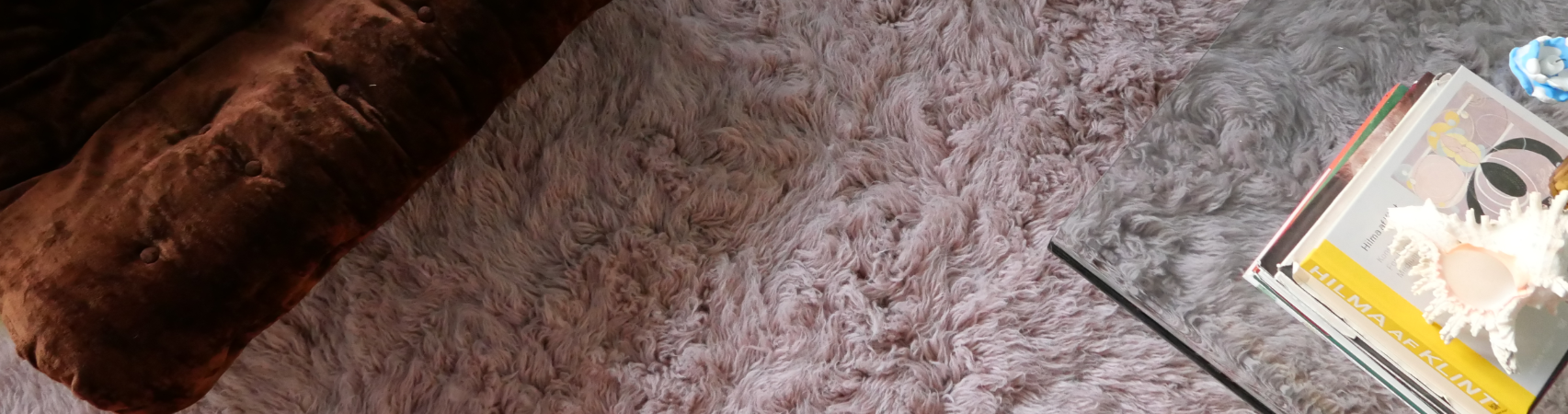 Shaggy rugs from layered