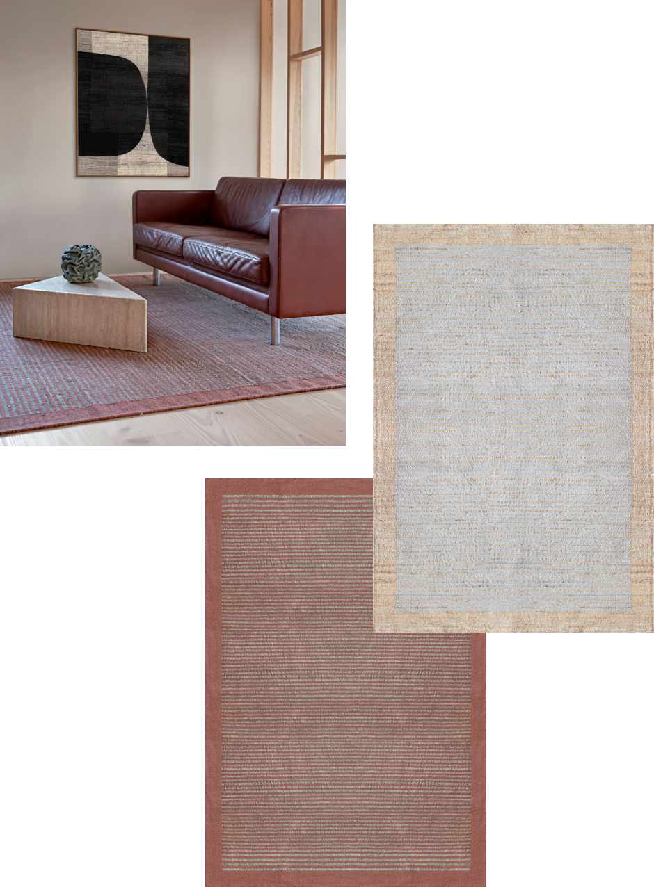 Brenton Rug in Coral and Natural